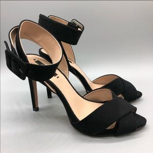 Zara cross town strap ankle wrap heeled sandals